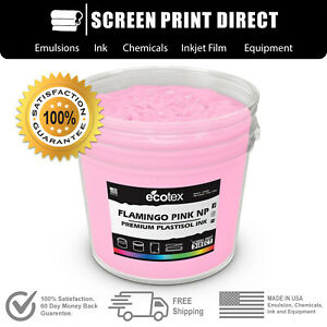 Ecotex Flamingo Pink Np Premium Plastisol Ink For Screen Printing 5 Gallon