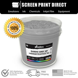 Ecotex Nardo Grey Premium Plastisol Ink For Screen Printing 5 Gallon
