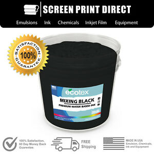 Ecotex Mixing Black Water Based Ready To Use Discharge Ink 5 Gallon