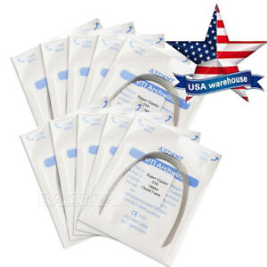 Us 50 Packs Dental Orthodontic Super Elastic Niti Archwire Round Wire 018 Lower