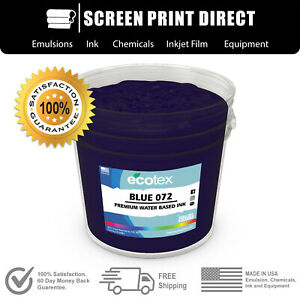 Ecotex Blue 072 Water Based Ready To Use Discharge Ink 5 Gallon