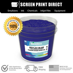 Ecotex Reflex Blue Water Based Ready To Use Discharge Ink 5 Gallon