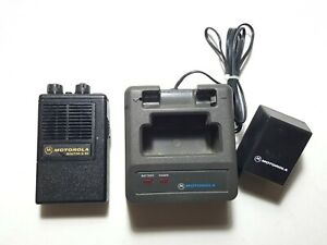 Motorola Minitor Ii Sv stored Voice Vhf 154 400mhz Fire Ems Pager W charger