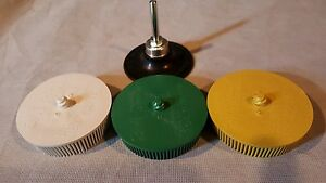 3m 3 Bristle Disc Combo Kit With Mandrel 50 Grit 80 Grit 120 Grit Rust Remover
