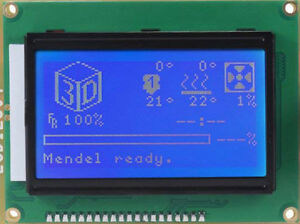 Lot Of 10 Units Arduino Graphics Lcd 128x64 12864 15 Lcd Display Blue