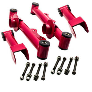 Fit Ford Mustang 79 04 Upper Lower Rear Tubular Control Arms W Hardware 4 Pcs