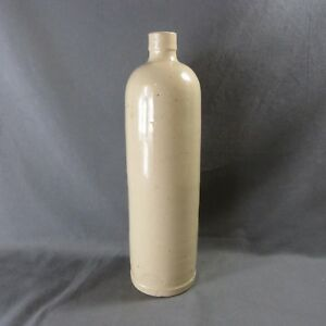 Large Antique French Rustic Stoneware Bottle Stamped Paul Langeron Rare