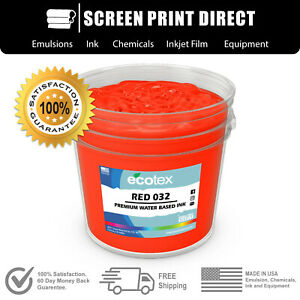 Ecotex Red 032 Water Based Ready To Use Discharge Ink Screen Printing 5 Gallon