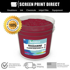 Ecotex Rhodamine Red Water Based Ready To Use Discharge Ink 5 Gallon