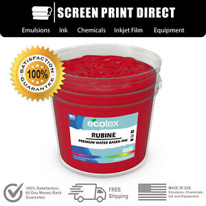 Ecotex Rubine Red Water Based Ready To Use Discharge Ink 5 Gallon