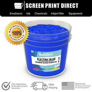 Ecotex Fluorescent Electric Blue Water Based Ready To Use Discharge Ink 5 Gal