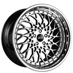 4 20 Vertini Wheels Hellfire Black Machined Rims Fs