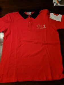 Coca cola FIFA World Cup Russia 2018 official partner red Polo medium