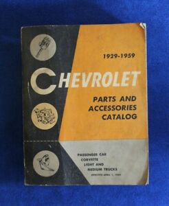 Vintage 1929 1959 Chevrolet Parts And Accessories Catalog Book Pickup Truck