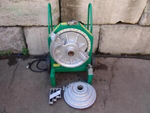 Greenlee 555 Hydraulic Bender 1 2 To 2 Inch Rigid Pipe Great Shape