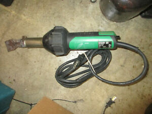 Leister Triac St Hand Held Plastic Hot Air Welder Heat Gun W Nozzle