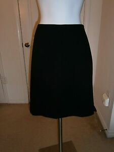 Jil Sander Made in Italy Black 100% Cashmere Straight Profile Skirt Sz 38 US 4