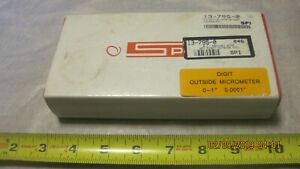Spi Digit Outside Micrometer 13 795 0 0 1 Inch used wx