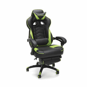Respawn 110 Racing Style Gaming Chair Reclining Ergonomic Leather W footrest