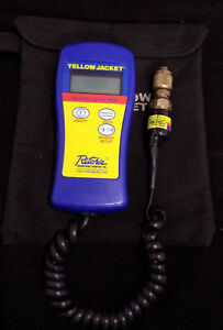 Yellow Jacket Hvac Digital Vacuum Gauge 69086 Case Sensor Free Shipping