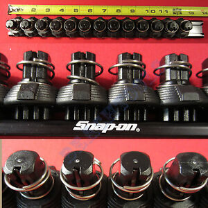 New Snap On 1 2 Black Quick Release Locking Clips Socket Rail Lsr1213 Usa