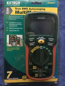 New Old Stock Extech Ex205t True Rms Auto Ranging Digital Multimeter