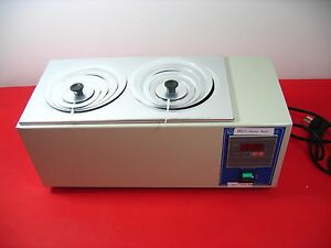 Hh 2 Digital Lab Thermostatic Water Bath Two Double Hole Electric Heating N