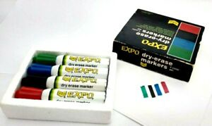 Vintage 4 Pc Boxed Set Of Metal Sanford Expo Dry Erase Markers Vhtf Potent