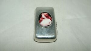 Antique Silver And Enamel Cigarette Case