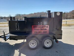 Double Gril Master Bbq Smoker Grill Trailer Food Truck Concession Street Vendor