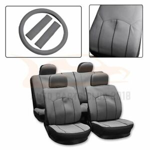 13 Pieces For 2010 2011 2012 2014 Toyota Rav4 Gray Mesh Cloth Car Seat Covers