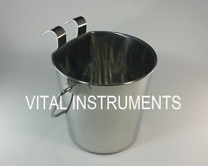 Stainless Steel Bucket Pail Flat Sided 1 Qt Dog Pup Kennel Farm Feed Box Of 12