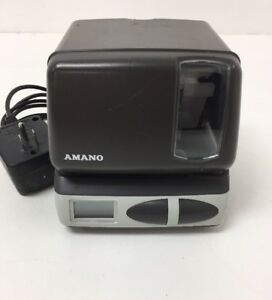 Amano Time Recorder Clock Time Stamper Pix 10 Series Model Pix 21 W Power Cord