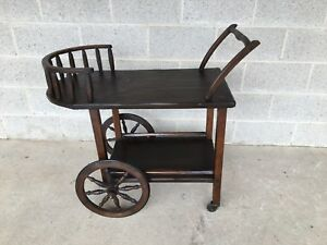 Hunt Country Furniture Rough Cut Tea Cart Serving Cart