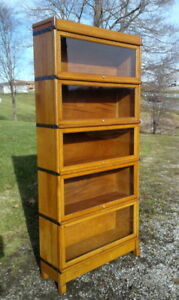 5 Stack Tiger Oak Macey Barrister Bookcase Antique