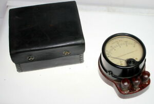 Vintage A c Ammeter 528 Weston Electrical Instrument Co W Leather Case