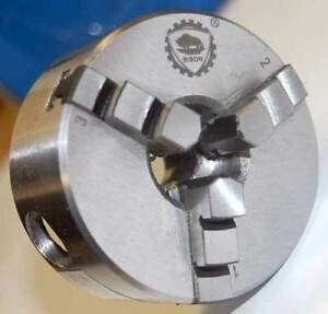 Bison bial 2 1 3 3 jaw Self centering Mini Lathe Chuck W 1 2 20 Threaded Mount