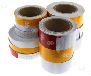3 Colors Self adhesive Roll Reflective Safety Warn Caution Conspicuity Tape