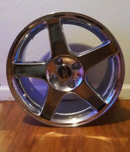 New Chrome 03 Cobra Style Mustang Wheel 17x9 4 Lug 79 93 Foxbody Coupe Gt Lx