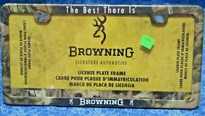 Browning Camouflage Camo License Plate Frame The Best There Is