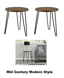 Mid Century Modern Style Hair Pin End Tables Night Stands