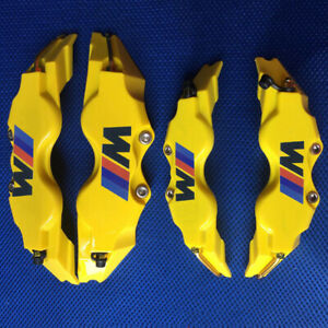 Brake Caliper Cover Yellow Bmw M Power Black Logo L m And M s