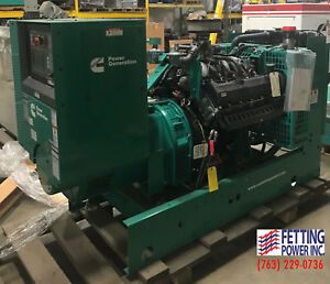 New 60kw Cummins Natural Gas Stationary Standby Generator Gghe S n I160101729