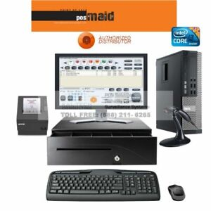 Retail Pos System Complete I3 4gb Ram Fast For Retail Liquor Convienence Stor