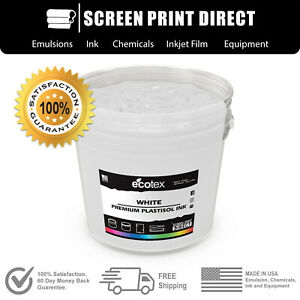 Ecotex Hilight White Np Premium Plastisol Ink For Screen Printing 5 Gallon