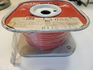 Belden 83050 22awg Red Tfe Teflon Silver Coated Hook Up Wire 1095 Feet