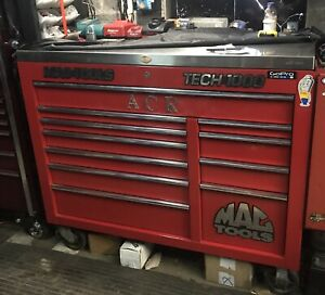 Mac Tools Tool Box Tech 1000 And Stainless Steel Smooth Work Surface