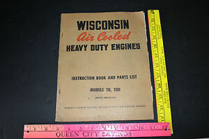 Wisconsin Air Cooled Heavy Duty Engines Manual Parts List Model Th Thd