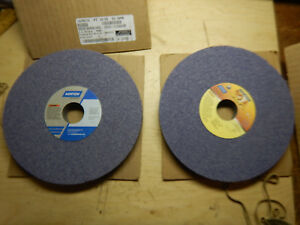 2 New Norton 8 X 3 4 X 1 1 4 Purple Grinding Wheels For Surface Tool Grinder
