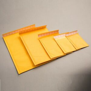 Gold Padded Bubble Envelopes Bags Postal Wrap Various Quantites All Sizes